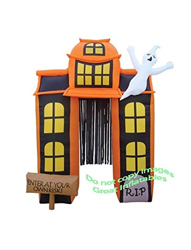 HALLOWEEN INFLATABLE 9' HAUNTED HOUSE ARCHWAY (Halloween Blow Up)