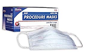Dukal 1530 Blue Procedure Mask with Ear Loop, Box of 50
