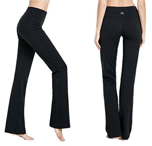 510a07959e Yogipace /(29//31//33//35 inseam Petite//Regular//Tall Length, Womens  Bootcut Yoga Pants Long Bootleg ...