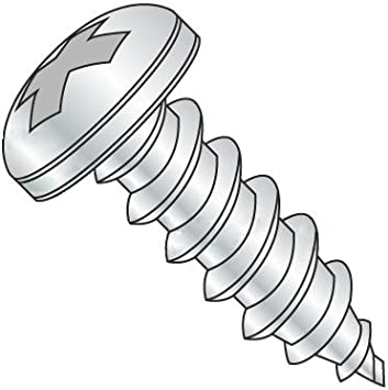 #4 x 1-1//4 Pan Head Sheet Metal Screws Full Thread Stainless Steel 18-8 Phillips Drive Bright Finish Quantity 100 Pieces by Fastenere Self-Tapping