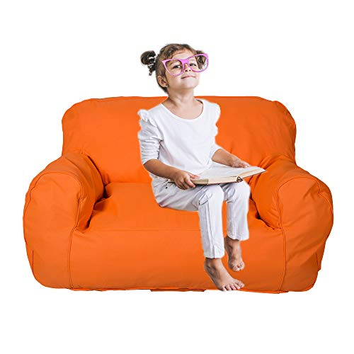 rens Sofa Self-Rebound Foam Couch for Kids Double-Kid TV Lounge Furniture Junior Chair Loveseat ()