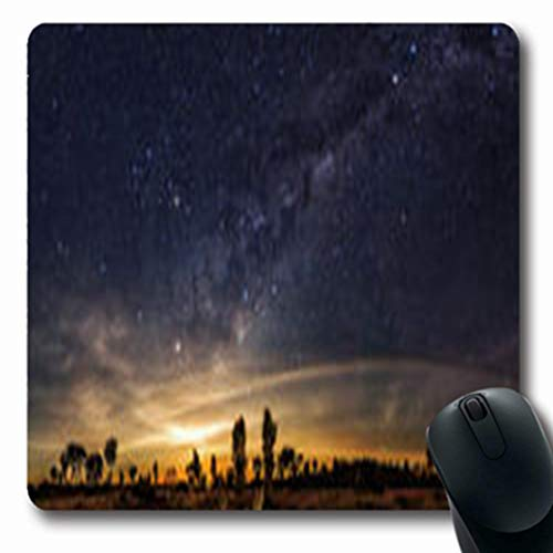 Pandarllin Mousepads Travel Clearly Milky Way Found Australias Outback Parks Outdoor Australia Starfield Oblong Shape 7.9 x 9.5 Inches Oblong Gaming Mouse Pad Non-Slip Rubber Mat
