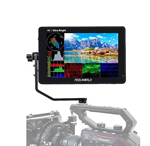 "FEELWORLD LUT7S 7"" 3D LUT 4K HDMI and SDI Monitor 2200nits Touch Screen DSLR Camera Field Monitor with Waveform VectorScope Histogram"