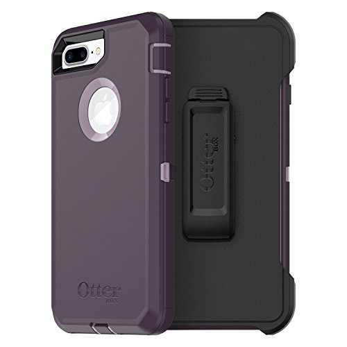 OtterBox DEFENDER SERIES Case for  iPhone 8 Plus & iPhone 7 Plus (ONLY) - Frustration Free Packaging - PURPLE NEBULA (WINSOME ORCHID/NIGHT PURPLE) (Pink Kids Ringer T-shirt)