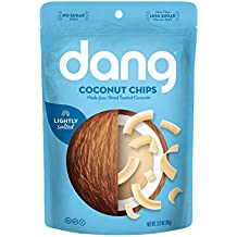 Dang Gluten Free Toasted Coconut Chips, Lightly Salted, Unsweetened, 3.17oz Bag, 3.17 Ounce (1 Count)