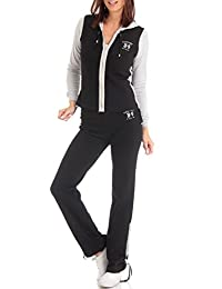 Vertigo Paris Women's Colorblocked Cotton Lounge Tracksuit Set
