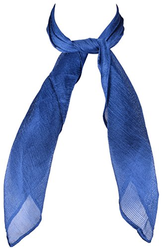 Vintage Square Scarf Neckerchief Women Kerchiefs Neck Cooling Wrap for Girls Navy One -