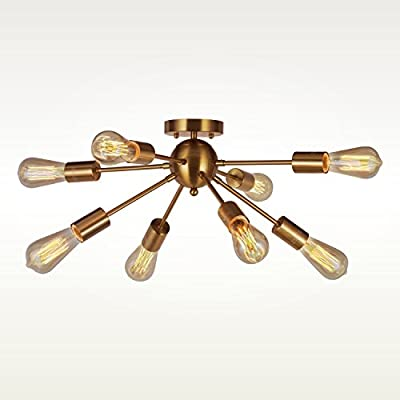 Interfan Sputnik lámpara de Techo Moderna, Cuero, 8l: Amazon ...