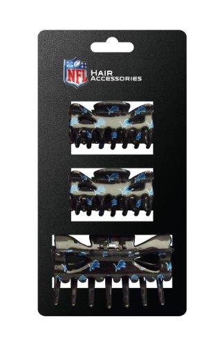 (NFL Detroit Lions Hair Accessory Plastic Hair Clip (3-Piece))