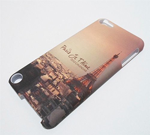 Ipod touch 5 Case, Ipod touch 6 Case - Paris je t'aime Paris Eiffel Tower Pattern Snap on Case Back Cover Faceplate for iPod Touch 5th 6th Generation+Screen Protector -Perfect as gift
