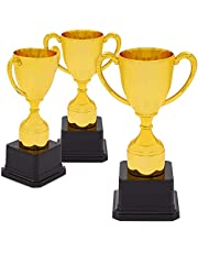 Blue Panda Award Trophy Cups for Sports & Competitions (Gold, 7 in, 3 Pack)