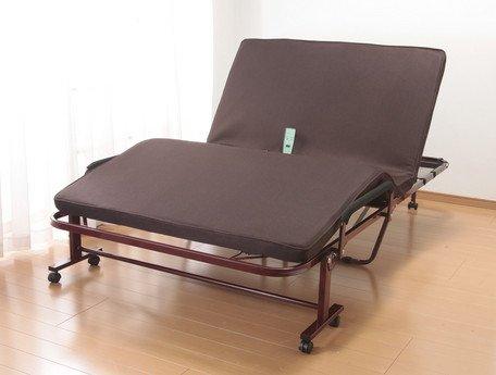立座り楽ちん電動リクライニングベッド 低反発メッシュ仕様収納式 B0797VW391