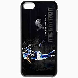 Personalized iPhone 5C Cell phone Case/Cover Skin 14510 calvin johnson megatron by djray1985 d47odjr Black