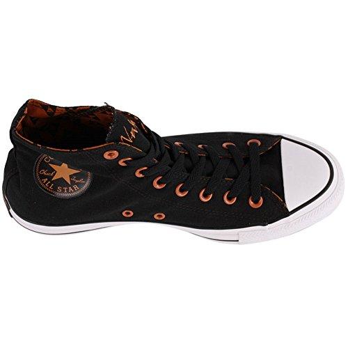 Omgekeerde Unisex Chuck Taylor Zwarte Sabbat Sneakers Zeg Nooit Die Zwart (mannen 3 / Dames 5)