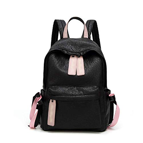 PU Women Capacity Black Fashion Backpack Bag Casual Travel Daypack Large dw7dE