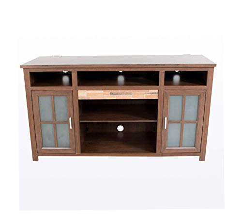 Wood & Style Furniture Nashville Console TV Stand Brown Cherry Premium Office Home Durable Strong (Furniture Nashville)