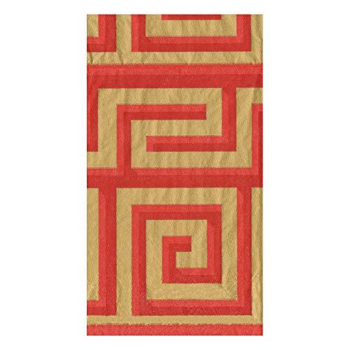 Caspari Greek Meander Paper Guest Towel Napkins in