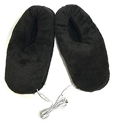Can Unpick and Wash Black IVOOVOO USB Electric Heated Slippers