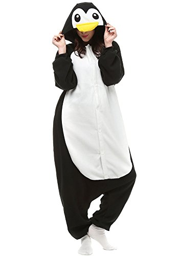 One-Piece Pajamas Unisex Costume Adult Animal Onesie Penguin Cosplay (L (Height:5'7''-5'10''/170cm-178cm), -