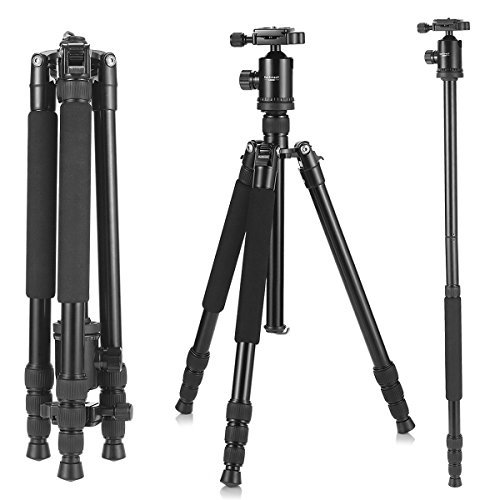 Camera Tripod, KetDirect Aluminium Compact Portable Lightweight Professional Camera Tripods For Cameras monopod