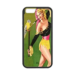 """UNI-BEE PHONE CASE For Apple Iphone 6,4.7"""" screen Cases -Funny Parrot-CASE-STYLE 6"""