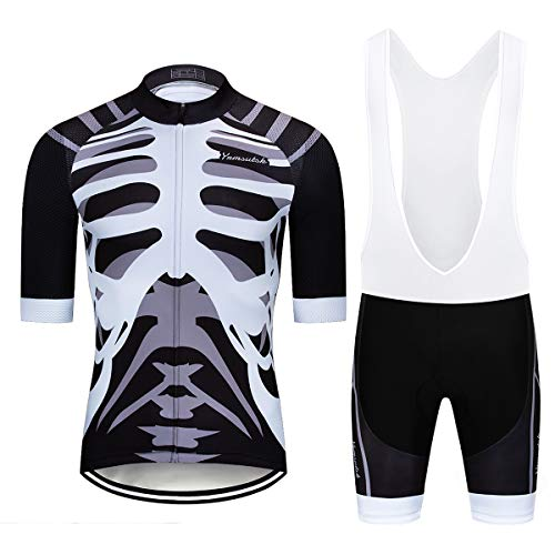 Men's Bike Cycling Jerseys Sets Bib Shorts Breathable Clothing (Chest 36-38