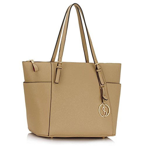 Womens Handbags Ladies Large Tote Bag Designer Faux Leather Celebrity Style New