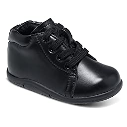 Stride Rite Infant/Toddler Boys\' SRT Elliot,Black Leather,US 3 XW