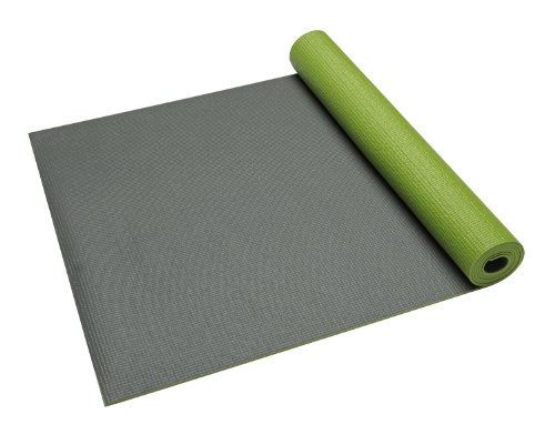 Gaiam Premium Solid Two-Sided Yoga Mat, Honeydew, 5mm