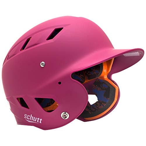 - Schutt Sports AiR 5.6 Softball Batter's Helmet, Matte Pink, X-Small