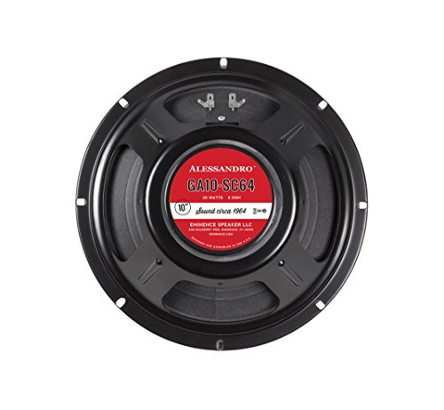 "Eminence Signature Series GA10-SC64 10"" George Alessandro Guitar Speaker, 20 Watts at 8 Ohms"