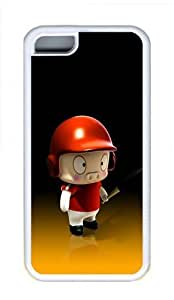 Apple iPhone 5C Case and Cover - Cute 3D Cartoon Pig Cool TPU Case Cover Protector For iPhone 5C - White