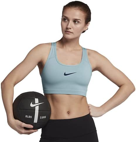 Nike Women's Swoosh Sports Bra, Color Ocean Bliss/Binary Blue, Talla