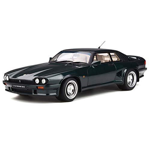 GAOQUN-TOY 1:18 Jaguar XJS Modification Lister 7.0 LE Mans S/C Resin Car Model (Color : Green, Size : 26cm10cm8cm)