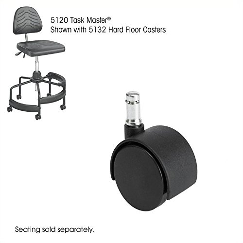 Safco Products 5132 Task Master 2'' Hard Floor Casters for Task Master, Soft Tough, WorkFit Chairs, sold separately, Black by Safco Products