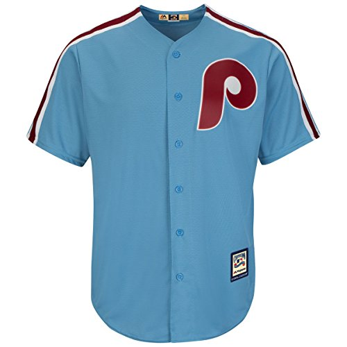 Philadelphia Phillies Youth Cool Base Cooperstown Team Jersey Blue (Youth Small 8)