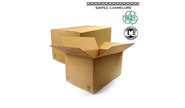 packdiscount – Caja cartón ondulado (60x40x30 cm: Amazon.es: Oficina y papelería