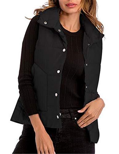 迷彩わずかなマークダウンValoda レディースジャケットアウターウェア暖かいノースリーブキルト厚ダウンベスト