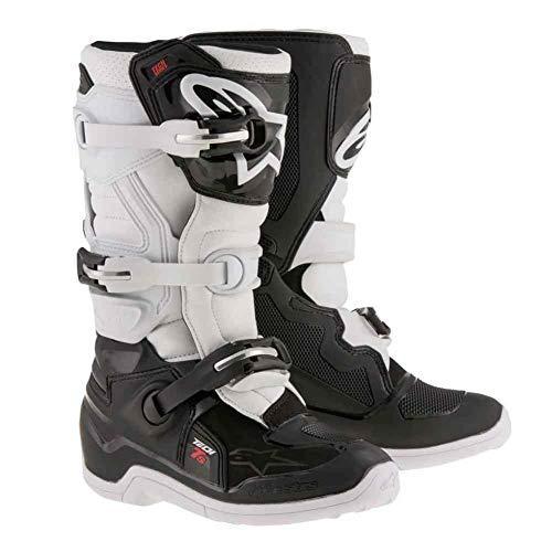 Alpinestars Tech 7S Youth Motocross Boots - Black/White - Youth 3 ()