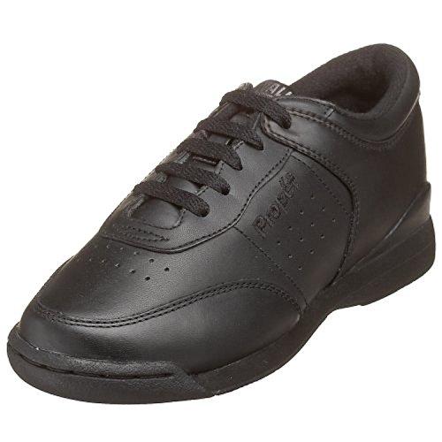 Propet Womens Life Walker Shoe & Oxy Cleaner Bundle Zwart