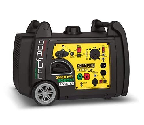 Champion DUAL-FUEL 2800wt Running / 3100wt Peak Digital Inverter Generator, Electric Start, RV Ready, Parallel Capable, CARB & EPA Certified, Low Decibels
