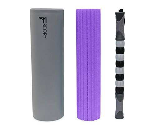 Freory 3-in-1 Foam Roller for Trigger Points. High-Medium Density Foam and Deep...