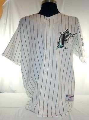 the best attitude 39a97 280a0 Miami Florida Marlins Vintage Russell Pinstripe Jersey 2003 ...