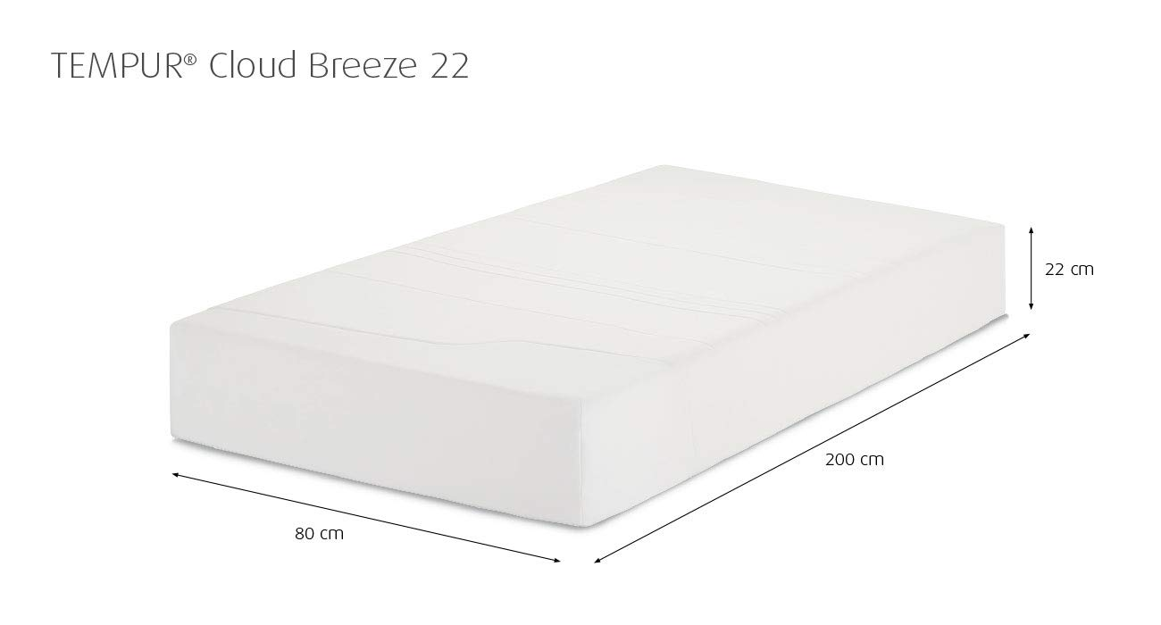 Materassi Tempur O Memory.Tempur Mattress Cloud Breeze 22 Amazon Co Uk Garden