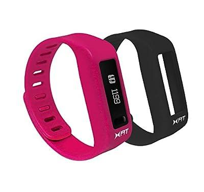 Xtreme Xfit Watch Pink/Black Bluetooth Activity Tracker (2 Bands)