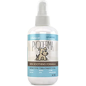 Huma.ne PYODERMA Hot Spot Spray Treatment for Dogs: Natural Remedy for Dry and Itchy Skin, Hair Loss from Chewing and Dermatitis (8 FL OZ)