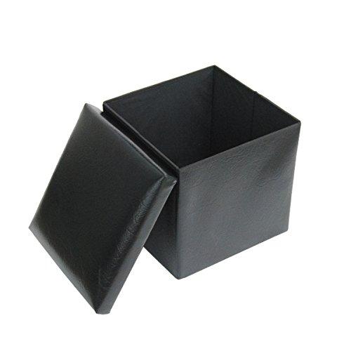 Cozee 174 15 Quot Faux Leather Folding Ottoman Storage Box