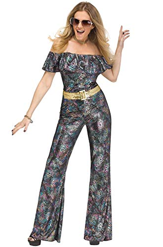 Fun World Women's Disco Queen, Multi, S/M Size 2-8 -