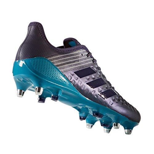 Chaussures De Rugby De Contrôle De Malice Prédateur Adidas Bleu