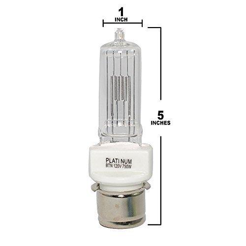 Eiko 410 - BTN - Stage and Studio - T7 - 750 Watt Light Bulbs - 120 Volts - P28s Base - 3050K